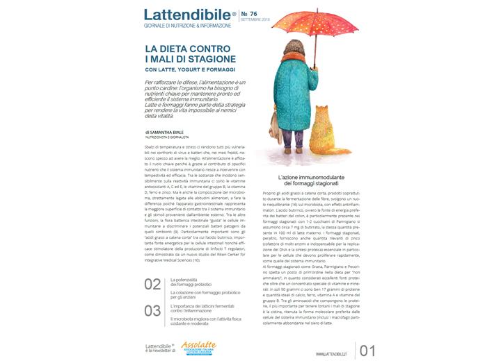 CONTRO I MALI DI STAGIONE LATTE, YOGURT E FORMAGGI. IL NUOVO NUMERO DE LATTENDIBILE
